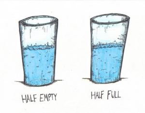 optimism pessimism glass half empty half full