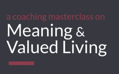 Meaning & Valued Living Coaching Masterclass©: A New Coaching Method